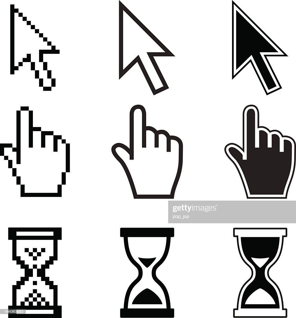 Mouse Cursor Icons - Pixel and Vector