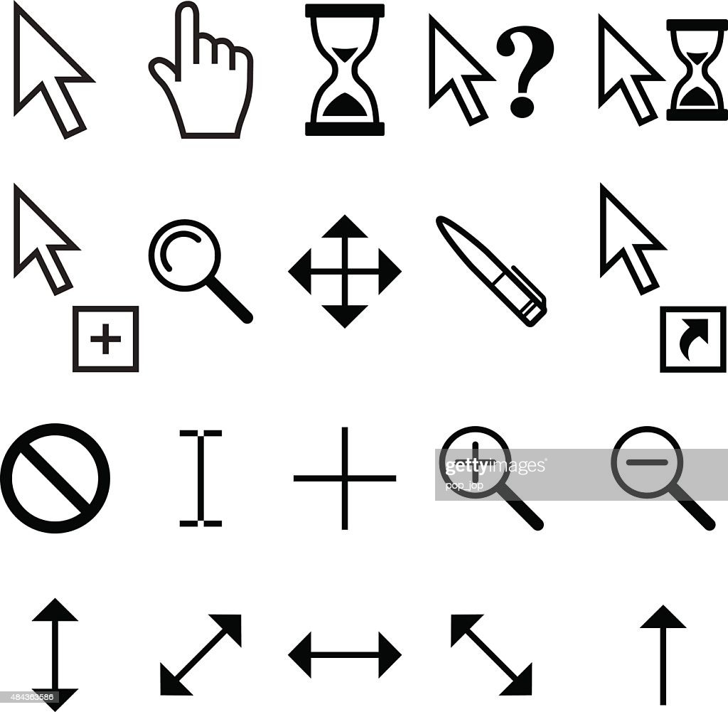 Mouse Cursor Pointers - Vector Icons