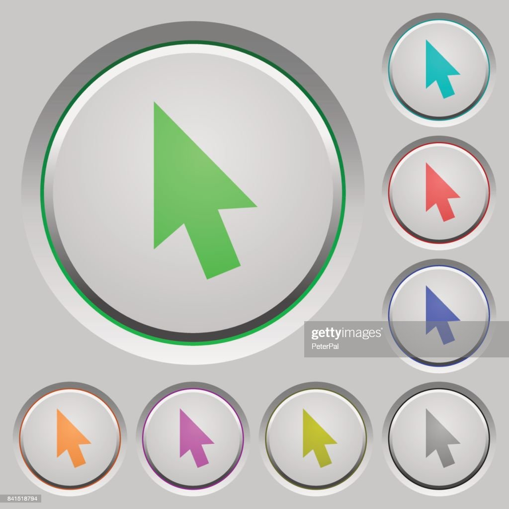 Mouse cursor push buttons