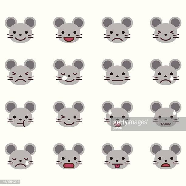mouse emoticons - cute mouse stock illustrations