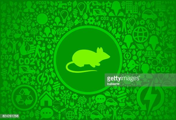 mouse environment green vector icon pattern - pests stock illustrations