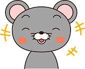 Mouse expression laugh