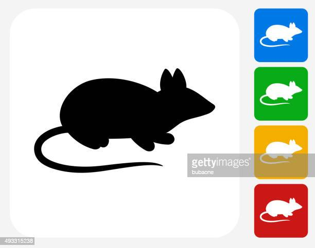 mouse icon flat graphic design - rat stock illustrations, clip art, cartoons, & icons