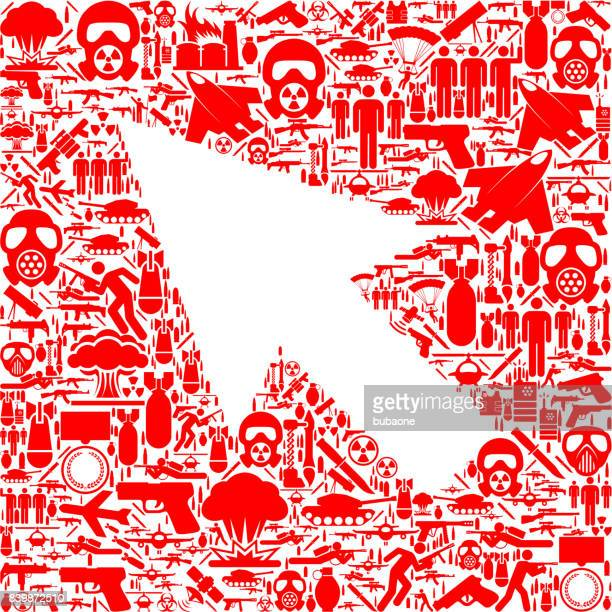 Mouse Pointer War and Modern Warfare Vector Icon Pattern