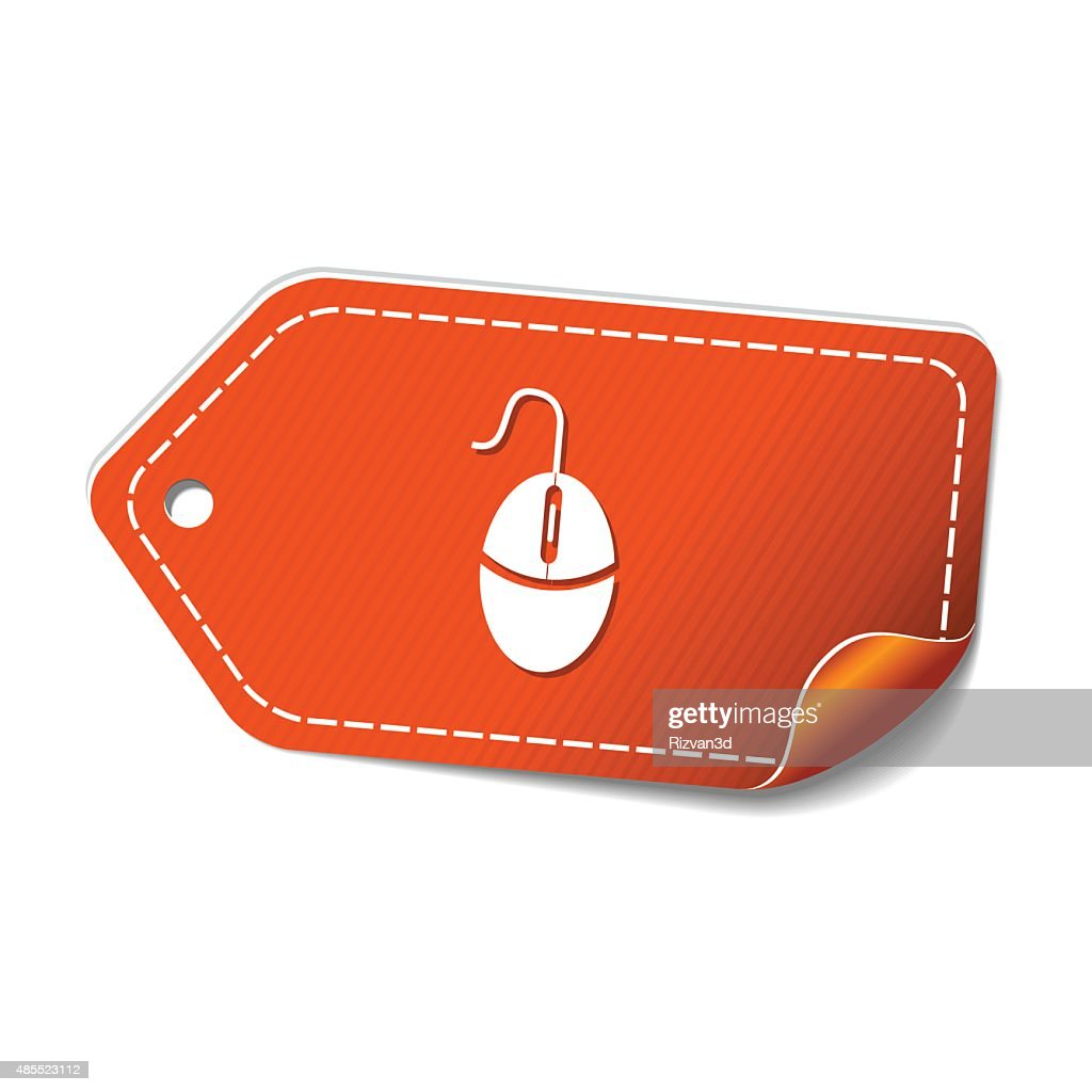 Mouse Sign Orange Vector Icon Design