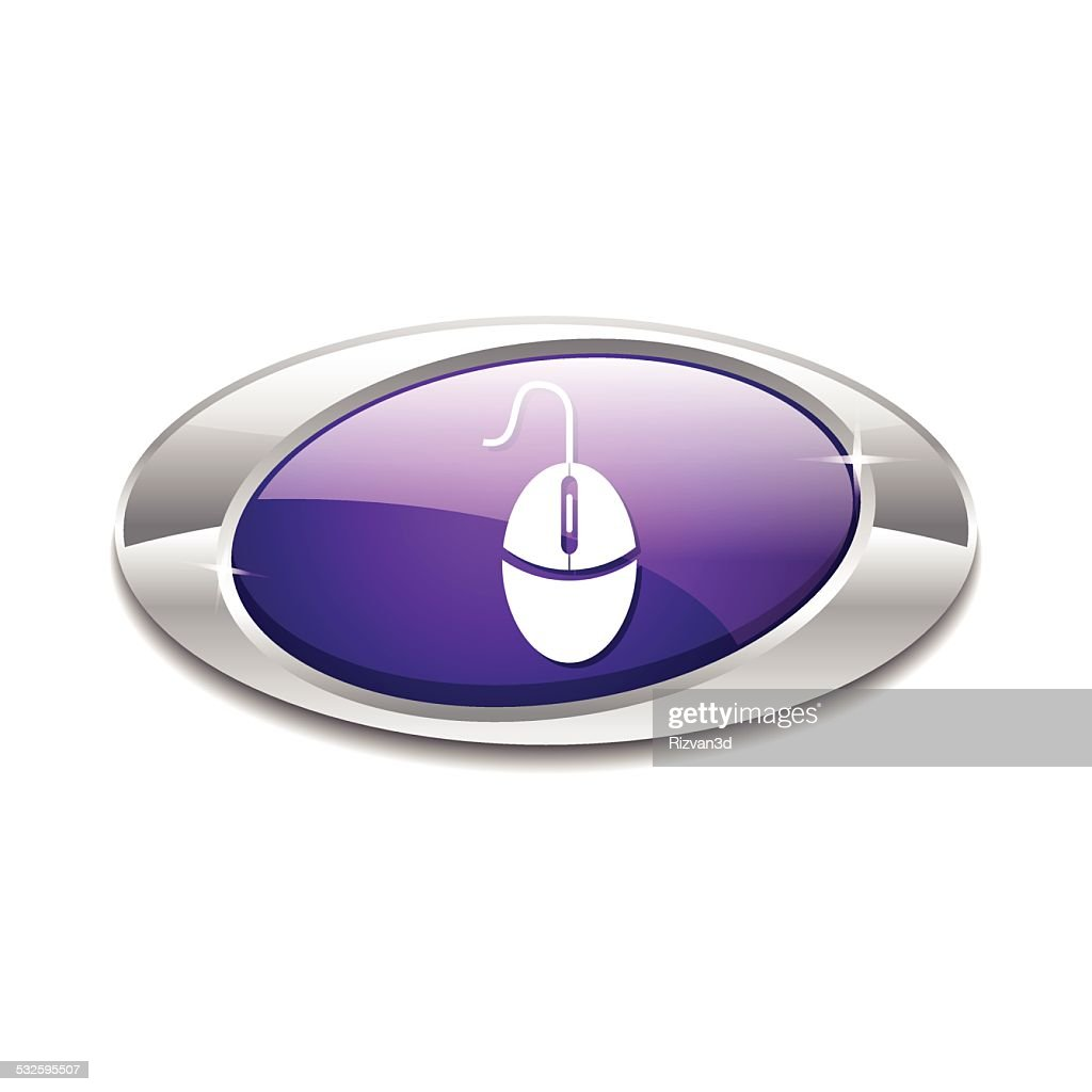 Mouse Sign Violet Vector Icon Button