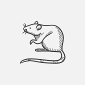 Mouse sketch icon