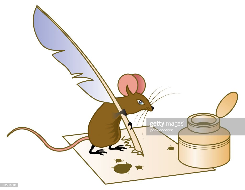mice writing a letter