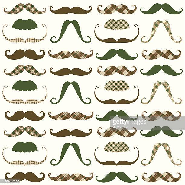 Moustache Retro Pattern