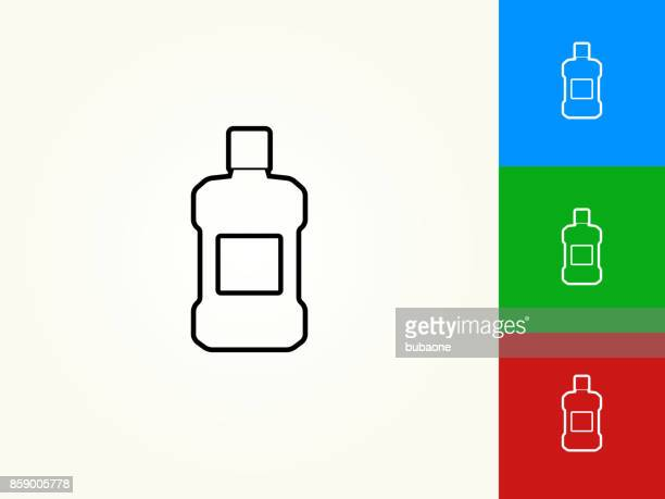 mouthwash black stroke linear icon - mouthwash stock illustrations, clip art, cartoons, & icons