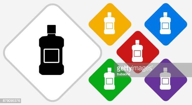 mouthwash color diamond vector icon - mouthwash stock illustrations