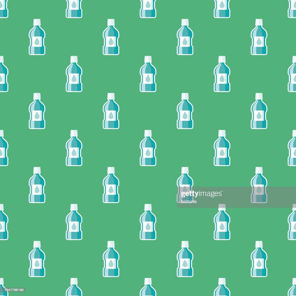 Mouthwash Dental Health Seamless Pattern : Stock Illustration