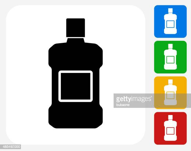 mouthwash icon flat graphic design - mouthwash stock illustrations, clip art, cartoons, & icons
