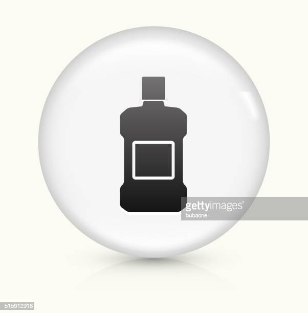 mouthwash icon on white round vector button - mouthwash stock illustrations, clip art, cartoons, & icons