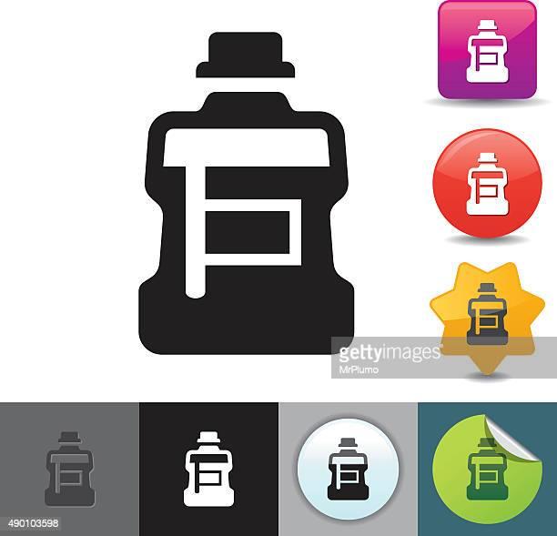 mouthwash icon | solicosi series - mouthwash stock illustrations