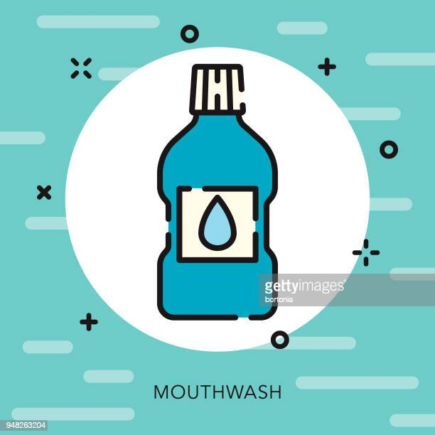 mouthwash open outline dentist icon - mouthwash stock illustrations, clip art, cartoons, & icons