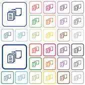 Move file outlined flat color icons
