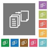 Move file square flat icons