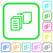 Move file vivid colored flat icons icons