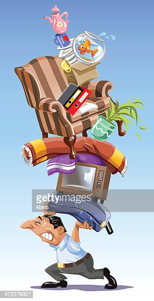 mover - new home stock illustrations, clip art, cartoons, & icons