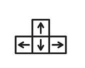movement icon illustration vector,movement line icon illustration design
