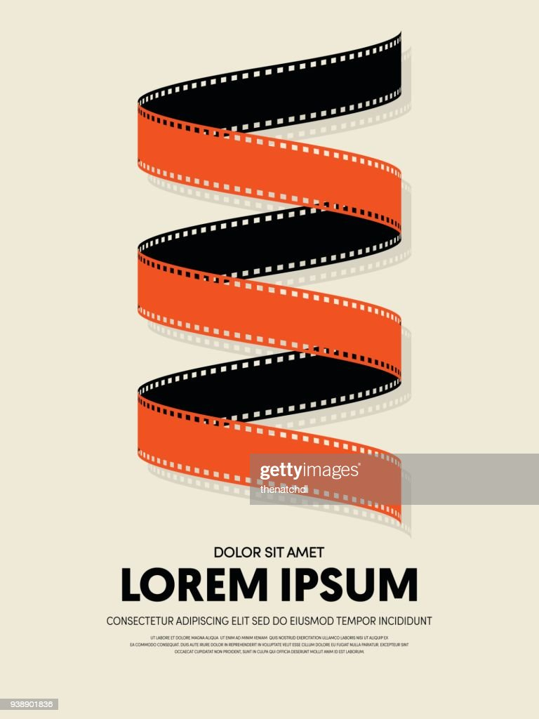 Movie and film abstract modern poster background