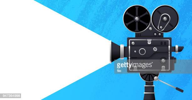movie and film banner - video camera stock illustrations, clip art, cartoons, & icons