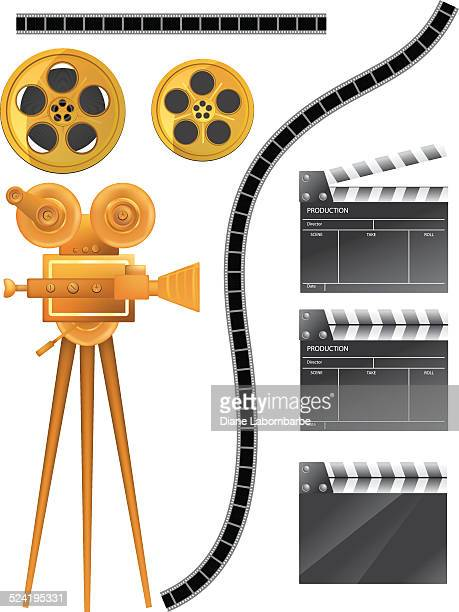 Movie and Film Industry Elements - Gold