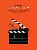 Movie and film modern retro vintage poster background