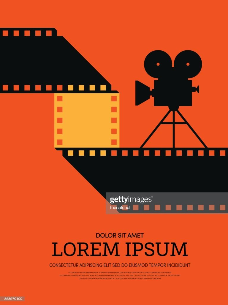 Movie and film modern retro vintage poster background