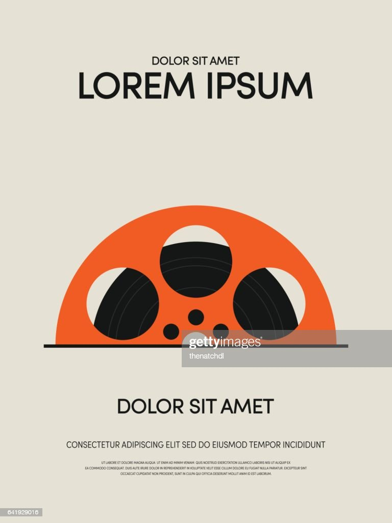 Movie and film modern vintage retro poster background