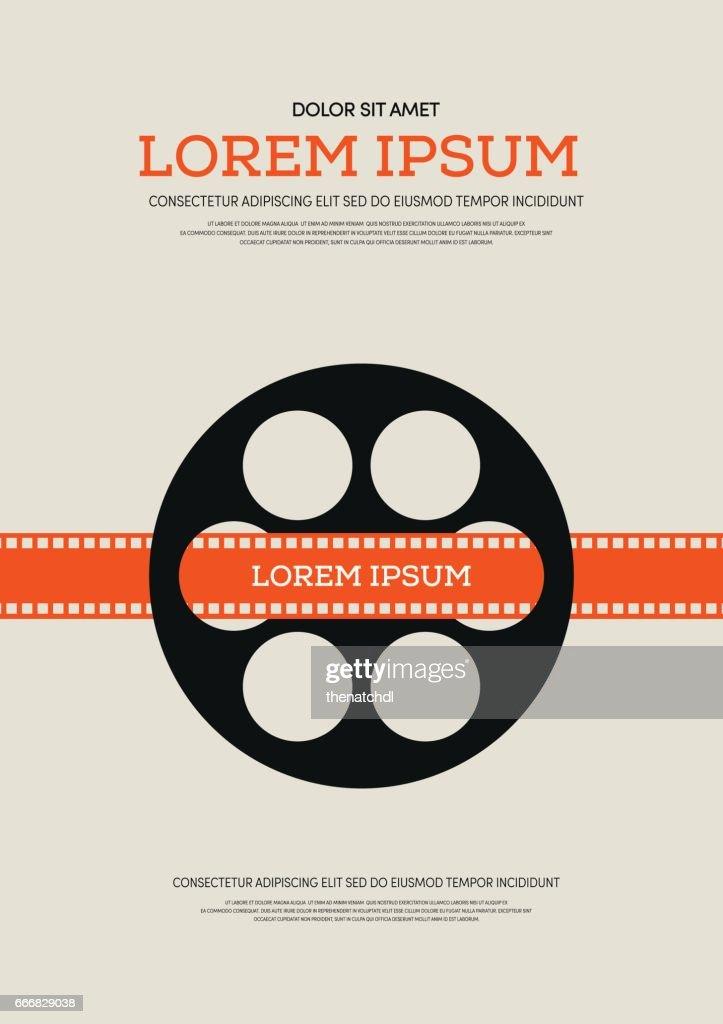 Movie and film retro vintage poster background vector illustration