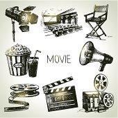 Movie and film set