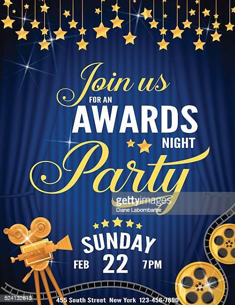 Movie Awards Night Party Invitation Template