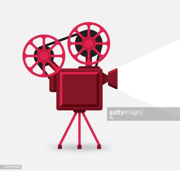ilustrações de stock, clip art, desenhos animados e ícones de movie camera film reel entertainment - festival cinematográfico