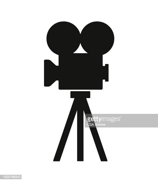 movie camera - film crew stock illustrations