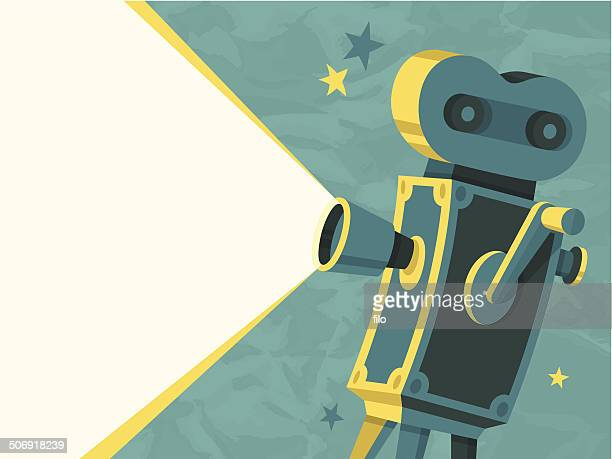movie camera - film industry stock illustrations