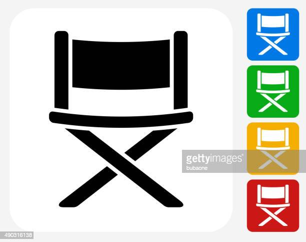 Movie Chair Icon Flat Graphic Design