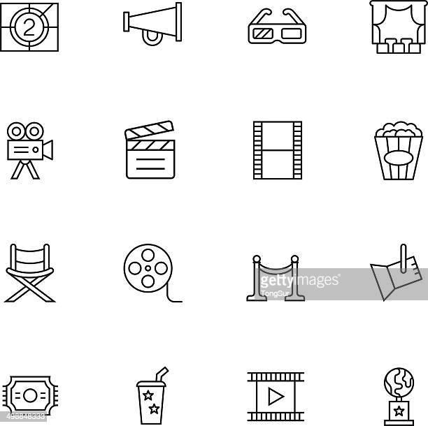 Movie & Cinema Icons - Light