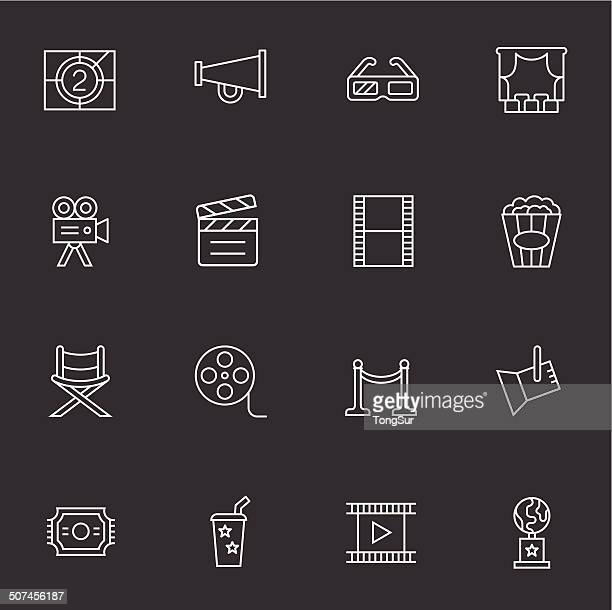Movie & Cinema Icons - Light White
