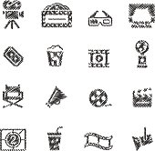 Movie & Cinema Icons // Scribble series