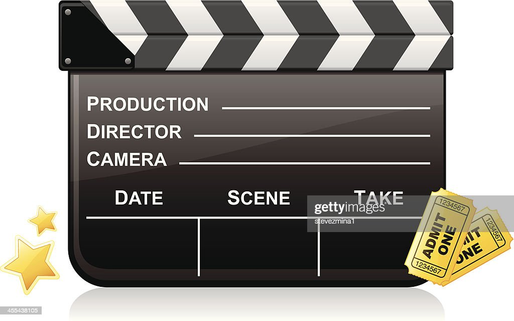 Movie Clapboard and Admission Tickets