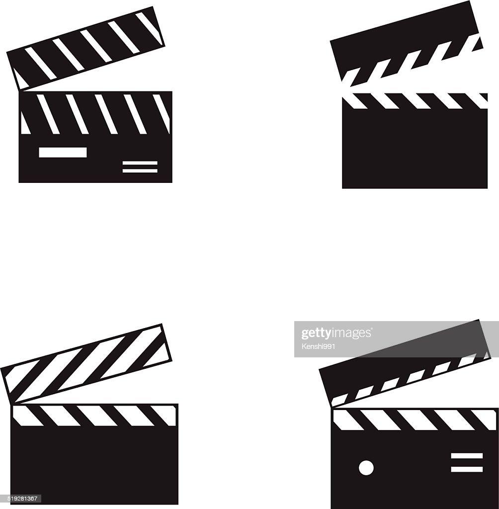 Movie clapborad icons