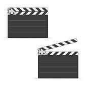 Movie clapper board set.