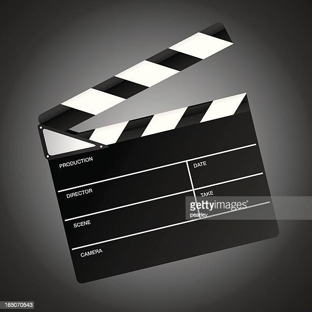 movie clapper - producer stock illustrations, clip art, cartoons, & icons