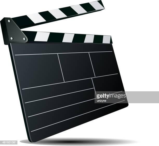 ilustraciones, imágenes clip art, dibujos animados e iconos de stock de movie clapper - claqueta de cine