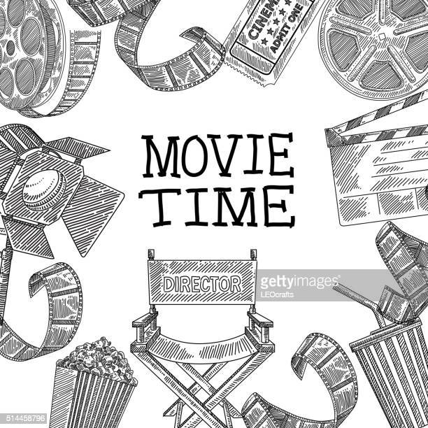 Movie design elements Drawing