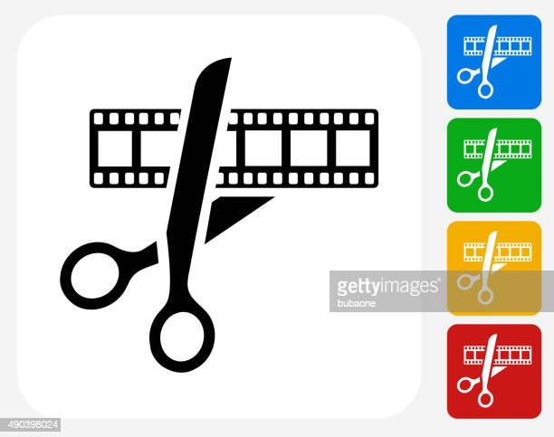 Movie Edit Icon Flat Graphic Design