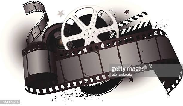 movie equipments - clapboard stock illustrations, clip art, cartoons, & icons
