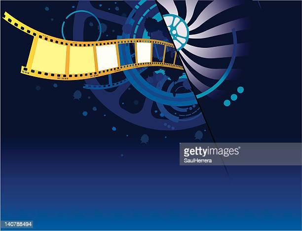 ilustraciones, imágenes clip art, dibujos animados e iconos de stock de película filmstrip 2 - rollo de cine
